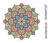 mandala. ethnic decorative... | Shutterstock .eps vector #524069767
