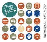 celebration icons set.vector... | Shutterstock .eps vector #524071297