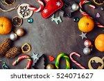 beautiful christmas background... | Shutterstock . vector #524071627