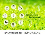precision agriculture and... | Shutterstock . vector #524072143