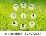 precision agriculture and... | Shutterstock . vector #524072167