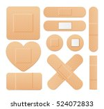 aid band plaster strip medical... | Shutterstock . vector #524072833