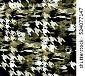 houndstooth geometric seamless... | Shutterstock . vector #524077147