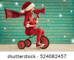 happy child rides a bike. kid... | Shutterstock . vector #524082457