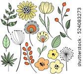 flower graphic design. vector... | Shutterstock .eps vector #524083273