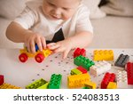 close up of child's hands... | Shutterstock . vector #524083513