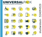 set of 25 universal editable... | Shutterstock .eps vector #524094523