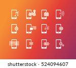 mobile apps icons | Shutterstock .eps vector #524094607
