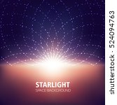starlight  space background ... | Shutterstock .eps vector #524094763
