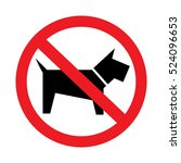 no dogs sign isolated on white...