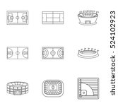sports stadium icons set.... | Shutterstock .eps vector #524102923