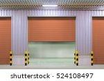 roller shutter door and...   Shutterstock . vector #524108497