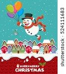vintage christmas poster design ... | Shutterstock .eps vector #524111683