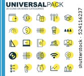 set of 25 universal editable... | Shutterstock .eps vector #524116237