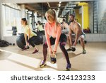 healthy young athletes doing... | Shutterstock . vector #524123233