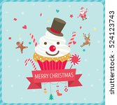 Cupcake Snowman Decorated With...
