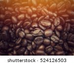 Blurred Coffee Beans Backgroun...