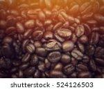 Blurred Coffee Beans Backgroun...