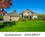 big custom made luxury house... | Shutterstock . vector #524128927