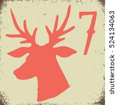 christmas advent calendar set.... | Shutterstock .eps vector #524134063