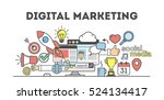 digital marketing concept.... | Shutterstock .eps vector #524134417
