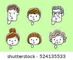 face  facial expression  think  ... | Shutterstock .eps vector #524135533