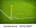 yellow flag in corner of... | Shutterstock . vector #524143807