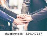 image of businesspeople hands...   Shutterstock . vector #524147167