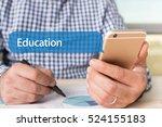 communication technology... | Shutterstock . vector #524155183