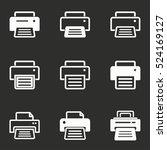 printer vector icons set. white ... | Shutterstock .eps vector #524169127