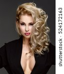 very beautiful sexy blonde... | Shutterstock . vector #524172163