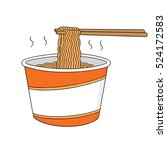 vector set of noodle | Shutterstock .eps vector #524172583