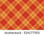 orange plaid tartan seamless... | Shutterstock .eps vector #524177503