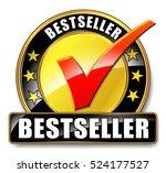 illustration of bestseller icon ... | Shutterstock .eps vector #524177527