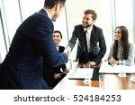 business people shaking hands ... | Shutterstock . vector #524184253