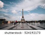 eiffel tower. paris. france.... | Shutterstock . vector #524192173