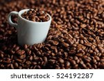 espresso cup full of coffee on... | Shutterstock . vector #524192287