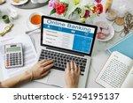 online banking account... | Shutterstock . vector #524195137