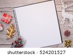 christmas letter writing on... | Shutterstock . vector #524201527