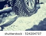 Closeup Of Winter Tyre On A...