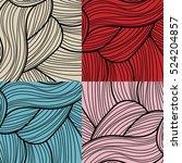 set of four retro lines... | Shutterstock .eps vector #524204857