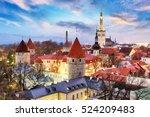 tallinn  estonia old city view... | Shutterstock . vector #524209483