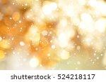 Abstract Gold Bokeh Snow Christmas - Fine Art prints