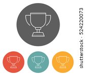 trophy icon | Shutterstock .eps vector #524220073