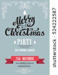 christmas party invitation... | Shutterstock .eps vector #524222587