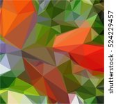 Red Green Background Geometric...