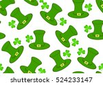 st. patrick's vector seamless... | Shutterstock .eps vector #524233147