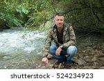 outdoor autumn male portrait....   Shutterstock . vector #524234923