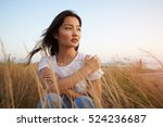 beautiful young asian model... | Shutterstock . vector #524236687