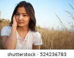 charming woman with pretty... | Shutterstock . vector #524236783